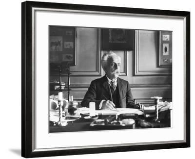 Gabriel Faure (1845-1924) at His Desk- Dornac-Framed Photographic Print