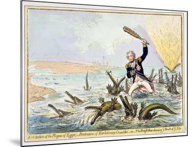 Extirpation of the Plagues of Egypt, Published by Hannah Humphrey in 1798-James Gillray-Mounted Giclee Print