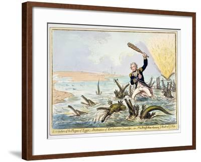 Extirpation of the Plagues of Egypt, Published by Hannah Humphrey in 1798-James Gillray-Framed Giclee Print
