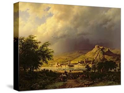 A Coming Storm-Barend Cornelis Koekkoek-Stretched Canvas Print