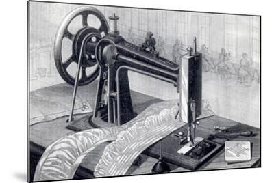 Wilson Sewing Machine, Showing Belt Drive from Treadle and Oil Can, from Park Benjamin Appleton's…--Mounted Giclee Print