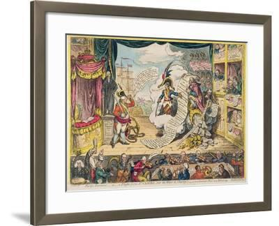 Pacific-Overtures, or a Flight from St. Clouds 'Over the Water to Charley' - a New Dramatic Peace…-James Gillray-Framed Giclee Print