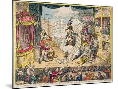 Pacific-Overtures, or a Flight from St. Clouds 'Over the Water to Charley' - a New Dramatic Peace…-James Gillray-Mounted Giclee Print