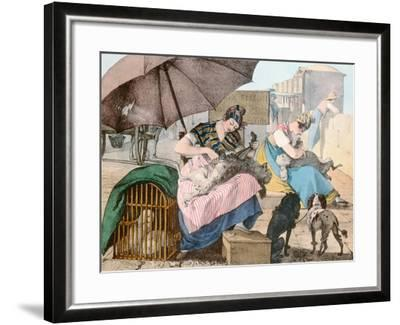 The Dog Groomers, 1820-John James Chalon-Framed Giclee Print