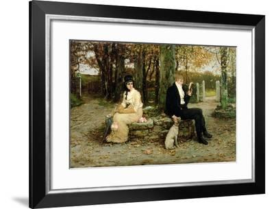 The Waning Honeymoon, 1878-George Henry Boughton-Framed Giclee Print