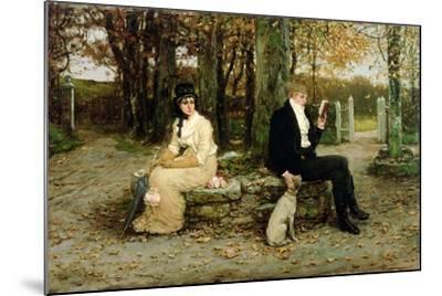 The Waning Honeymoon, 1878-George Henry Boughton-Mounted Giclee Print