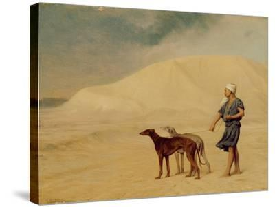 In the Desert-Jean Leon Gerome-Stretched Canvas Print