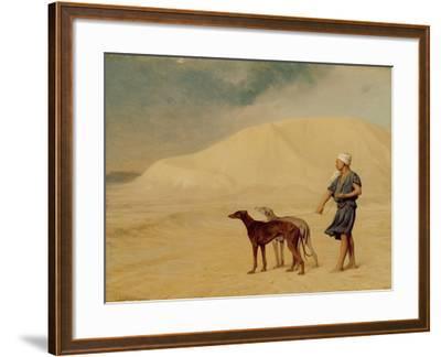 In the Desert-Jean Leon Gerome-Framed Giclee Print