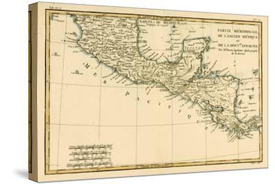 Southern Mexico, from 'Atlas De Toutes Les Parties Connues Du Globe Terrestre' by Guillaume…-Charles Marie Rigobert Bonne-Stretched Canvas Print