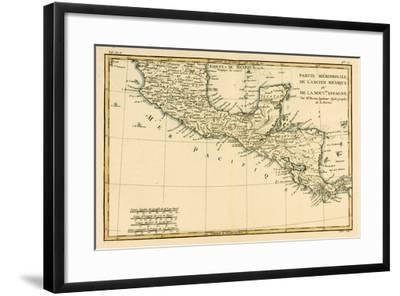 Southern Mexico, from 'Atlas De Toutes Les Parties Connues Du Globe Terrestre' by Guillaume…-Charles Marie Rigobert Bonne-Framed Giclee Print