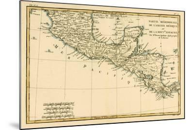 Southern Mexico, from 'Atlas De Toutes Les Parties Connues Du Globe Terrestre' by Guillaume…-Charles Marie Rigobert Bonne-Mounted Giclee Print