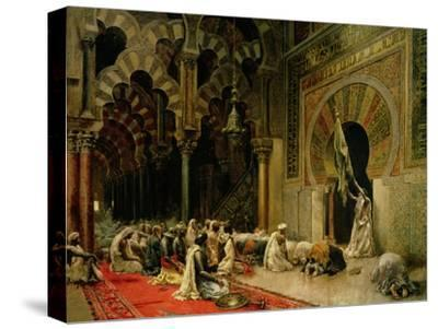 Interior of the Mosque at Cordoba, C.1880-Edwin Lord Weeks-Stretched Canvas Print