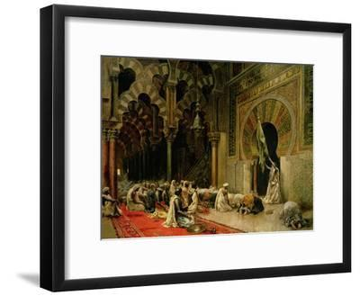 Interior of the Mosque at Cordoba, C.1880-Edwin Lord Weeks-Framed Giclee Print