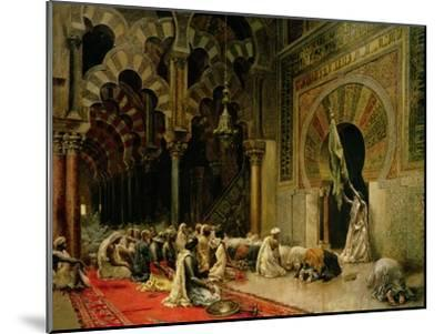 Interior of the Mosque at Cordoba, C.1880-Edwin Lord Weeks-Mounted Giclee Print