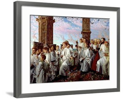 May Morning on Magdalen Tower-William Holman Hunt-Framed Giclee Print