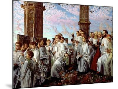 May Morning on Magdalen Tower-William Holman Hunt-Mounted Giclee Print