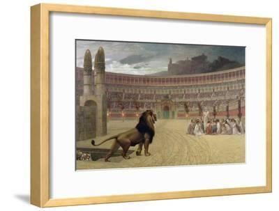 The Christian Martyr's Last Prayer, 1863-83-Jean Leon Gerome-Framed Giclee Print