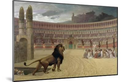 The Christian Martyr's Last Prayer, 1863-83-Jean Leon Gerome-Mounted Giclee Print