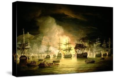 Bombardment of Algiers, August 1816, 1820-Thomas Luny-Stretched Canvas Print