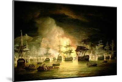 Bombardment of Algiers, August 1816, 1820-Thomas Luny-Mounted Giclee Print