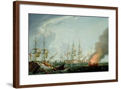 Morning after the Battle of the Nile-Robert Dodd-Framed Giclee Print