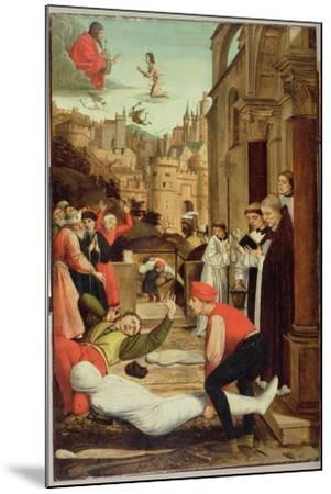 St. Sebastian Interceding for the Plague Stricken, 1497-99-Josse Lieferinxe-Mounted Giclee Print