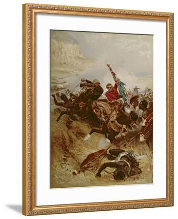 Lieutenants Nelville and Coghill Saving the Colours, 1881-Alfred A.B. de Neauville-Framed Giclee Print