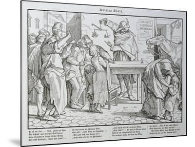 Death before the Public House, from 'Another Dance of Death' Published by Georg Wigand in…-Alfred Rethel-Mounted Giclee Print