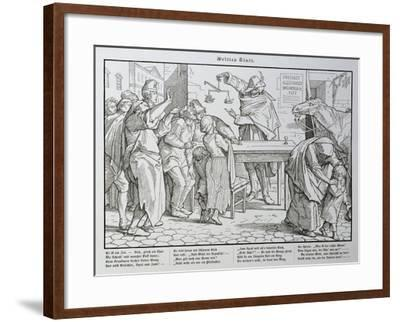 Death before the Public House, from 'Another Dance of Death' Published by Georg Wigand in…-Alfred Rethel-Framed Giclee Print