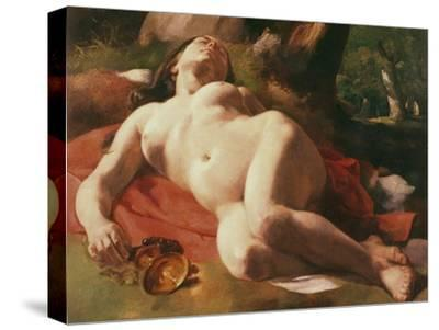 La Bacchante, C.1844-47-Gustave Courbet-Stretched Canvas Print