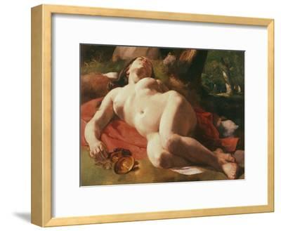 La Bacchante, C.1844-47-Gustave Courbet-Framed Giclee Print