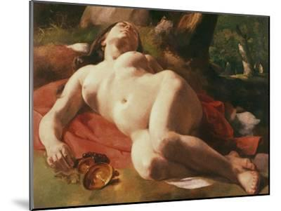 La Bacchante, C.1844-47-Gustave Courbet-Mounted Giclee Print