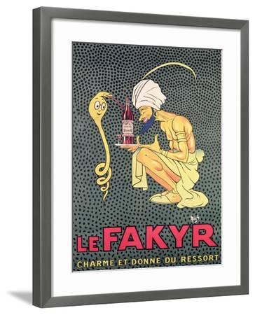 The Fakyr: Charmer and Giver of Spirit, Advertisement for 'Fakyr' Aperitif-Michel, called Mich Liebeaux-Framed Giclee Print