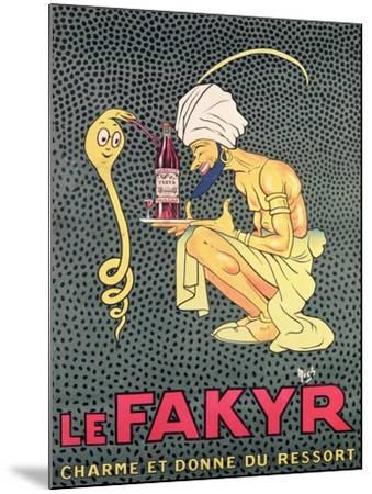 The Fakyr: Charmer and Giver of Spirit, Advertisement for 'Fakyr' Aperitif-Michel, called Mich Liebeaux-Mounted Giclee Print