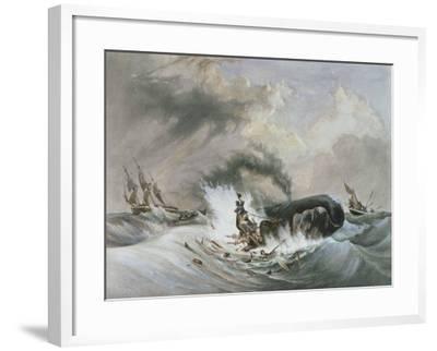 The Whale, 1836-Jean Francois Garneray-Framed Giclee Print