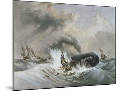 The Whale, 1836-Jean Francois Garneray-Mounted Giclee Print