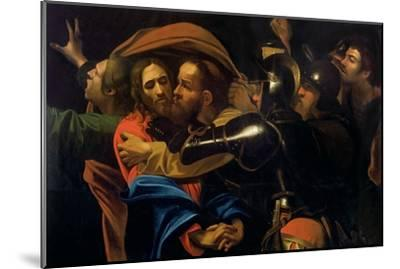 The Taking of Christ-Caravaggio-Mounted Giclee Print