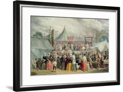 A Visit to the Circus, C.1885-Charles Green-Framed Giclee Print