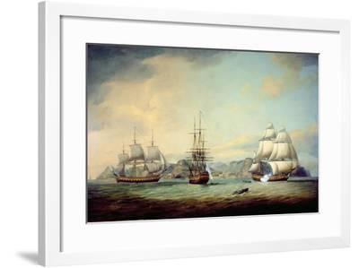 East Indiaman Ceres Off St Helena, 1788-Thomas Luny-Framed Giclee Print