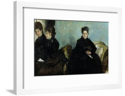 The Duchess De Montejasi and Her Daughters Elena and Camilla, 1876-Edgar Degas-Framed Giclee Print