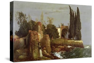 Villa by the Sea, 1878-Arnold Bocklin-Stretched Canvas Print