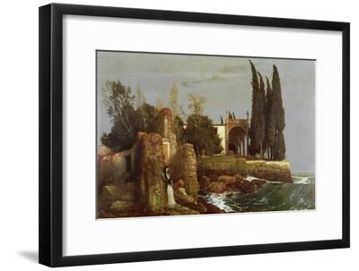Villa by the Sea, 1878-Arnold Bocklin-Framed Giclee Print