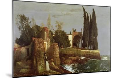 Villa by the Sea, 1878-Arnold Bocklin-Mounted Giclee Print