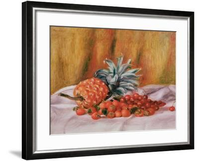 Strawberries and Pineapple, C.1895-Pierre-Auguste Renoir-Framed Giclee Print