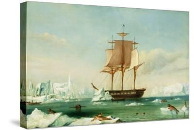 Dss 'Vincennes'-Captain Charles Wilkes-Stretched Canvas Print