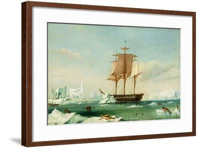 Dss 'Vincennes'-Captain Charles Wilkes-Framed Giclee Print