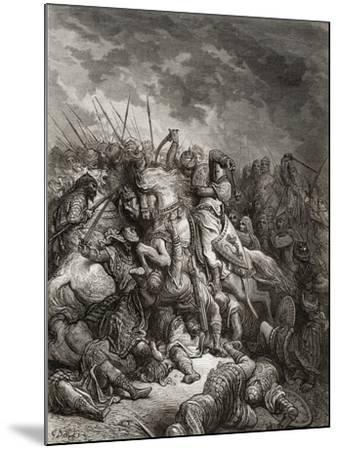 Richard I (1157-99) the Lionheart in Battle at Arsuf in 1191, Illustration from 'Bibliotheque Des…-Gustave Dor?-Mounted Giclee Print
