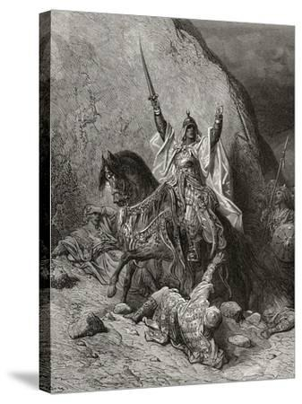 Saladin Yusuf (D.1173) Sultan During Second Crusade, Illustration from 'Bibliotheque Des…-Gustave Dor?-Stretched Canvas Print