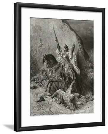 Saladin Yusuf (D.1173) Sultan During Second Crusade, Illustration from 'Bibliotheque Des…-Gustave Dor?-Framed Giclee Print