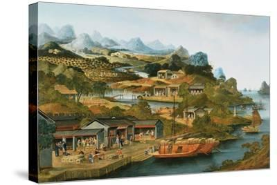 The China Tea Trade, 1790-1800--Stretched Canvas Print